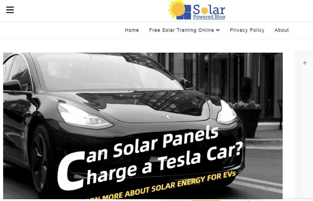 Solar Powered Blog